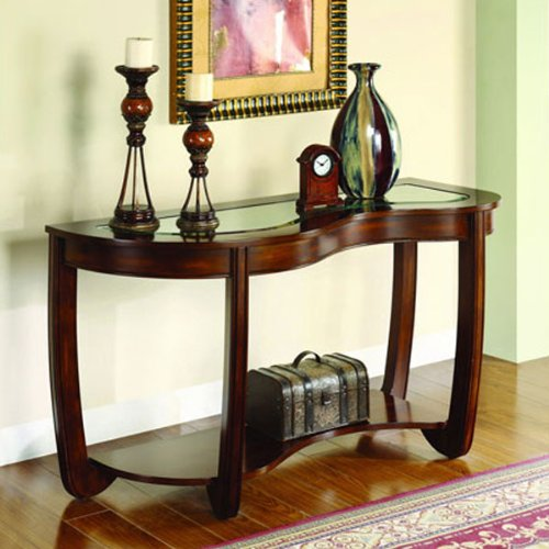 Cheap Crystal Falls Glass Top Console Table (CM4336S)