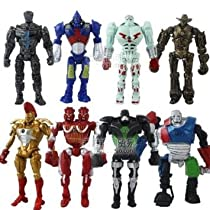 8x Real Steel Atom Midas Noisey Boy Zeus 13cm PVC Action Figure Set