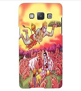 ColourCraft Lord Hanuman Design Back Case Cover for SAMSUNG GALAXY E5