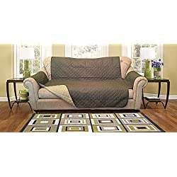 Reversible Furniture Protector Premium - Protects furniture from stains, spills, pets and children accidents (Sofa, Olive/Sage)