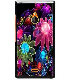 ColourCraft Digital Flowers Design Back Case Cover for NOKIA XL