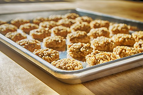 COOKIE SHEET BAKING PAN - For Best Pastries And Brownies - Our Jelly Roll Pans Will NEVER RUST OR WARP Like Other Sheets - Professional, Sturdy Quality Proves This Metal Half Tray Is Built To Last! (Doughmaker Jelly Roll Pan compare prices)