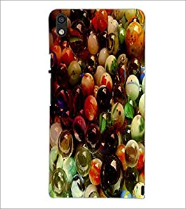 PrintDhaba Pebbles D-3438 Back Case Cover for HUAWEI ASCEND P6 (Multi-Coloured)