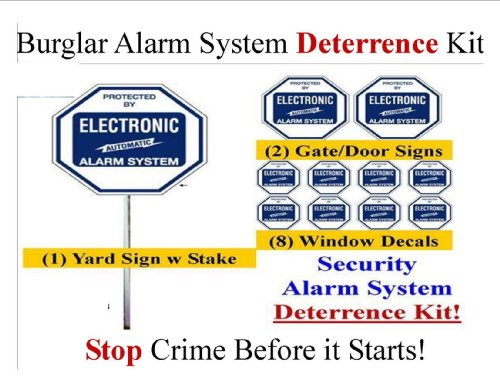 Security Sign & Security Decal - Kit #102 Burglar Alarm Warning Deterrence System front-131054