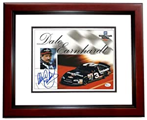 Dale Earnhardt Sr. Autographed Hand Signed 8x10 Photo - MAHOGANY CUSTOM FRAME - Car... by Real Deal Memorabilia