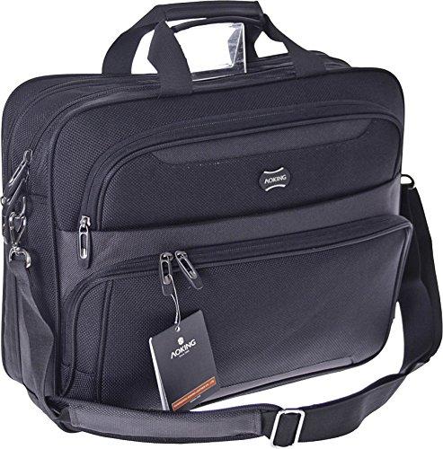 XXL borsa da lavoro da uomo Business Laptop Briefcase, documento Borsa Ufficio Borsa, borsa per laptop, Nero, un salvaspazio con molto spazio
