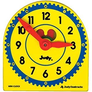 My Own Little Judy Clock w/Book; Plastic Clock; no. J-209044