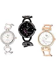 CB Fashion Combo Of Analog Multicolour Dial Women's Watch (RW218)