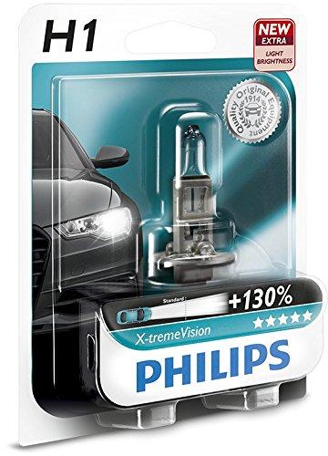 Philips-12258XVB1-X-treme-Vision-Lampada-Alogena-H1-12V-55W-130-di-Luce-in-Pi-40-Pi-Bianca