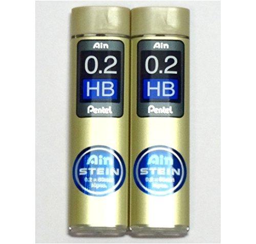 Pentel Ain Pencil Leads 0.2mm HB, 10 Leads X 2 Pack/total 20 Leads (Japan Import) [Komainu-Dou Original Package] [+Peso($32.00 c/100gr)] (US.AZ.6.48-0-B00N3MZGV0.157)