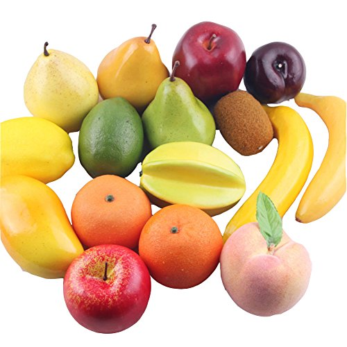 Transcend11 Pack of 16pcs Lightweight Simulated Foam Fruits Banana Apple Lemon Playset Artificial Fake Fruits Party Market Display Kids Toy Gift Home Kitchen Decoration Photography Props (Fruit Foam compare prices)