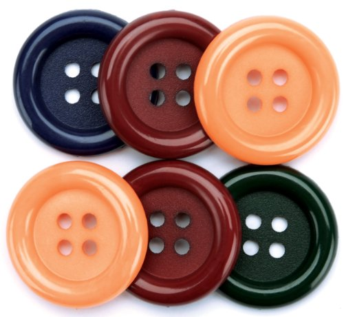 Country Favorite Findings Big Buttons 6/Pkg 5500BIG-497