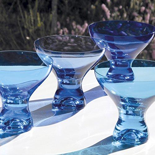 KADOR BLEU Boite de 4 coupes à glace couleurs assorties
