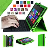 Fintie Folio Case for Microsoft Surface RT / Surface 2 10.6 inch Tablet Slim Fit with Stylus Holder (Does Not Fit Windows 8 Pro Version) - Green