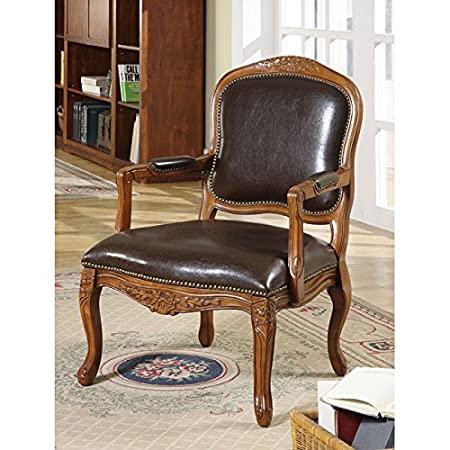 Metro Shop William's Home Furnishing Traditional Studded Occasional Chair-Cherry