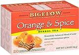 Bigelow Orange & Spice Herbal Tea, 20-Count Boxes (Pack of 6)