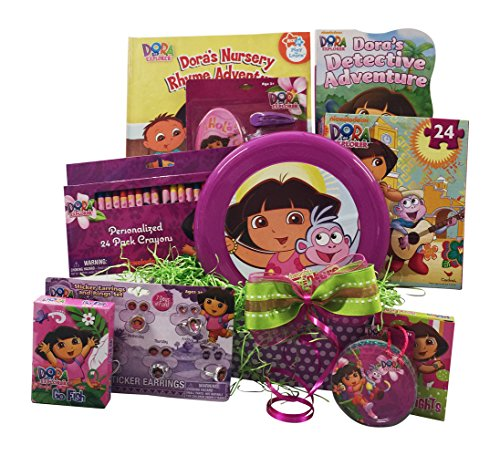 Dora the Explorer Get Well, Birthday Gift Baskets, Perfect for Girls 3-8 Years Old (Gifts For 3 Year Olds compare prices)