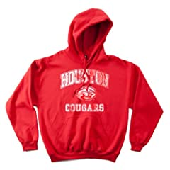 NCAA Houston Cougars 50 50 Blended 8-Ounce Vintage Mascot Hooded Sweatshirt,... by SDI