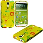 myLife Yellow Wild Animals Series (2 Piece Snap On) Hardshell Plates Case for the Samsung Galaxy S4 Fits Models: I9500, I9505, SPH-L720, Galaxy S IV, SGH-I337, SCH-I545, SGH-M919, SCH-R970 and Galaxy S4 LTE-A Touch Phone (Clip Fitted Front and Back Solid Cover Case + Rubberized Tough Armor Skin)