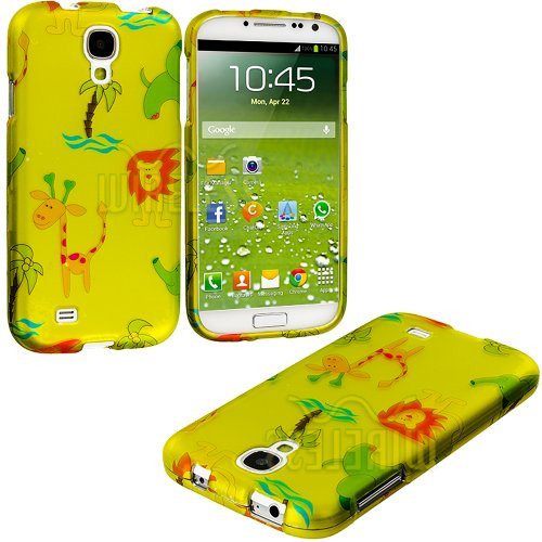 "Mylife (Tm) Yellow Wild Animals Series (2 Piece Snap On) Hardshell Plates Case For The Samsung Galaxy S4 ""Fits Models: I9500, I9505, Sph-L720, Galaxy S Iv, Sgh-I337, Sch-I545, Sgh-M919, Sch-R970 And Galaxy S4 Lte-A Touch Phone"" (Clip Fitted Front And Back"