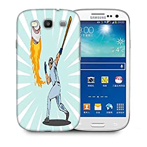 Snoogg Baseball Player Batting Ball Flames Designer Protective Back Case Cover For Samsung Galaxy S3
