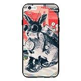 Coques-iPhone - Coque Lapin Time Traveller pour iPhone 6 de Ali Gulec - Contour noir