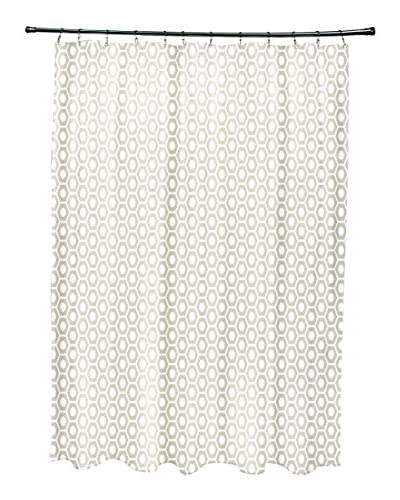 e by design Honeycomb Shower Curtain, Ivory
