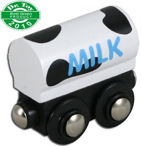 Li'l Chugs Wooden Trains Milk Freight Car