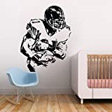 60x80cm Soccer player with ball to shoot wall decal sticker decoration for bedroom wall