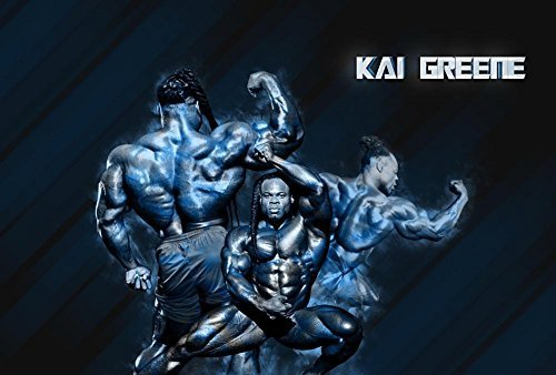 "Kai Greene Fabric Cloth Rolled Wall Poster Print -- Size: (36"" x 24"" / 20"" x 13"") by NewBrightBase [並行輸入品]"