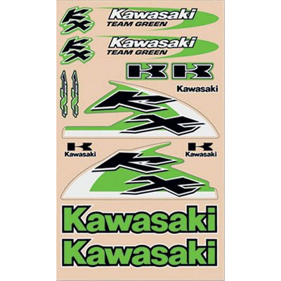 N-Style Kawasaki Decal Sheets Mx Motorcycle Graphic Kit Accessories - Universal Kit V2 / One Size