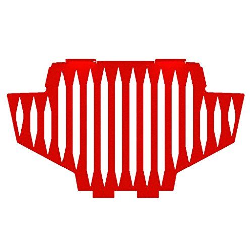 Blade Red Powdercoat Radiator Grill Guard Cover fits: 2011-2014 Polaris RZR 800 - Ferreus Industries - GRL-141-10-Red (2011 Rzr Grill compare prices)