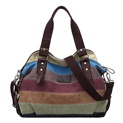 Coofit® Multicolor Borsa Tela Delle Signore Borsetta Messenger Bag