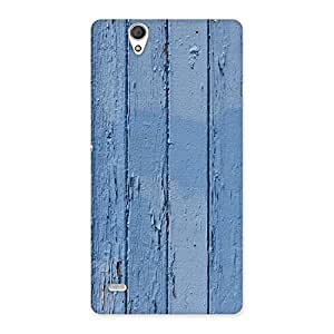 Impressive Blue Wood Wall Print Back Case Cover for Sony Xperia C4