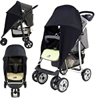 SUNNY SAIL UNIVERSAL GRACO MIRAGE BUGGY PRAM STROLLER shade parasol substitute Sun & Wind shield by BABY TRAVEL