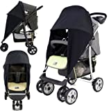 SUNNY SAIL UNIVERSAL GRACO MIRAGE BUGGY PRAM STROLLER shade parasol substitute Sun & Wind shield