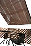 不二貿易  シェードオーニング (幅200x高さ240cm) ブラウン CGGL2024-180 BRII 84019