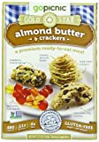 GoPicnic Gold Star Premium Ready-to-Eat Meals Almond Butter & Crackers, 3.7 oz.  (Pack of 6)