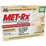 MET-Rx Meal Replacement Powder Boxed - Original Vanilla, 2.54 Ounce, 40-Count Packets