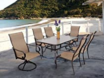 Hot Sale 7pc Cavalia Steel Outdoor Dining Table Set By Pride Family