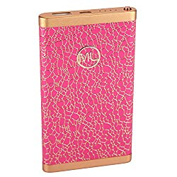 Maxxlite 6000mAh Ultra Slim Luxury Fashion Style Power Bank - Pink