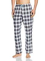 KINANIT Pantalón de Pijama (Negro / Granate)