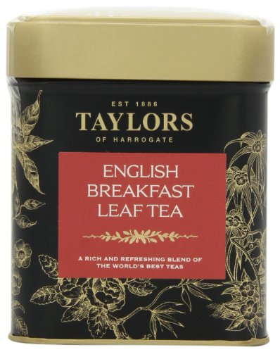 Taylors of Harrogate English Breakfast Leaf Tea, Loose Leaf, 4.41-Ounce Tins (Pack of 2)
