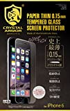 クリスタルアーマー® プレミアム強化ガラス for iPhone 6 (0.15mm ゴリラガラス)