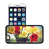 MSD Premium Apple iPhone 6 iPhone 6S Aluminum Backplate Bumper Snap Case IMAGE ID 29610413 Bouquet of colorful spring tulips in a vase on a background of a window