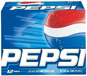 Pepsi Cola - Regular, 12 Pack Of 12 fl oz Cans, 144 fl oz