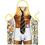 """G2PLUS 2015 New Hot Man Sexy Kitchen Apron-""""Business Man""""-Funny Kitchen Apron Creative Cooking Grilling Baking Aprons for Gifts(1PC)"""