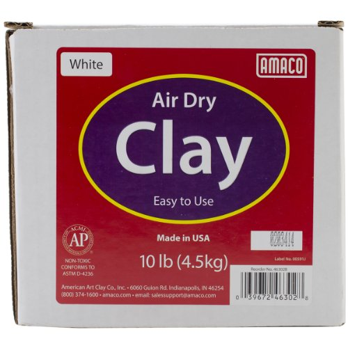 AMACO Air Dry Modeling Clay, 10-Pound, White (White Air Dry Clay compare prices)