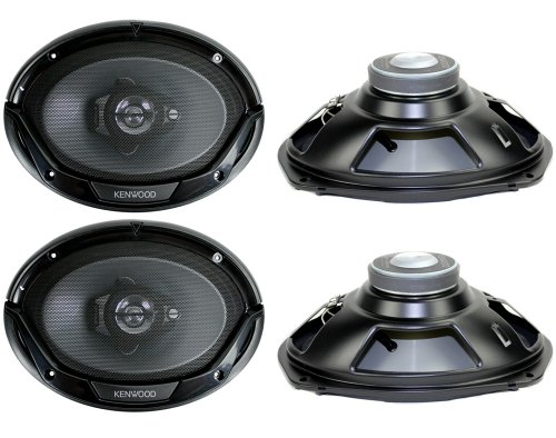 "4) New Kenwood Kfc-6965S 6X9"" 800 Watt 3-Way Car Audio Coaxial Speakers Stereo"
