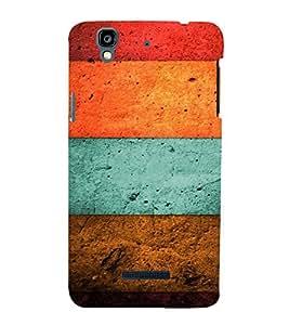 Fuson Premium Back Case Cover Coloured wood With Black Background Degined For YU Yureka::Micromax Yureka AO5510